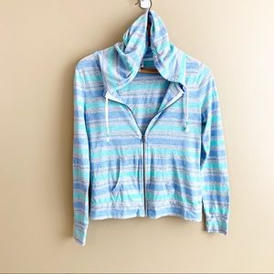Mossimo lightweight hoodie jacket stripe pocket XS